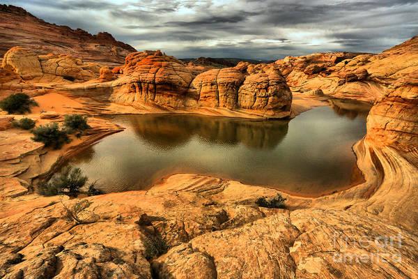 Photograph - Surreal Desert Storm Landscape by Adam Jewell