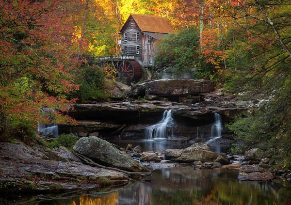 Photograph - Surreal Fall At The Babcock Mill by Matt Shiffler