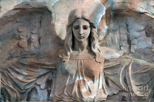 Ethereal Photograph - Surreal Fantasy Dreamy Angel Art Wings by Kathy Fornal