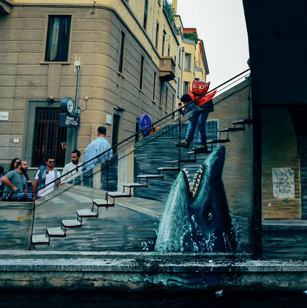 Photograph - Surreal Graffiti In Milan, Italy by Alexandre Rotenberg