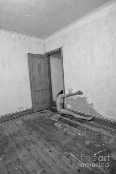 Photograph - Surreal Half Nude In Doorway by Clayton Bastiani