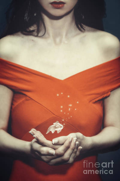 Wall Art - Photograph - Surreal Image Of Woman With Fish by Amanda Elwell