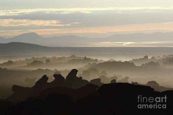 Wall Art - Photograph - Surreal Rock Formations North Lipez Bolivia by James Brunker