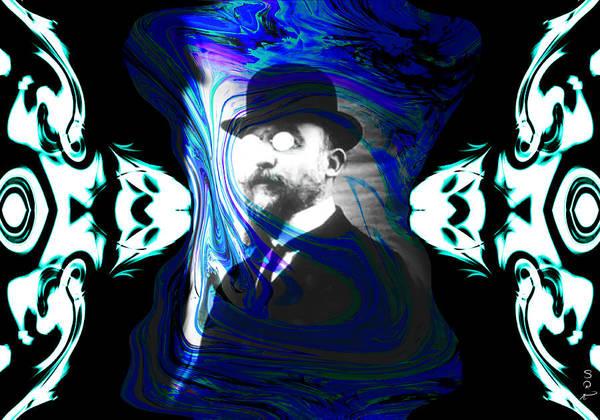 Tribute Digital Art - Surreal Satie, The Velvet Gentlemen by Abstract Angel Artist Stephen K