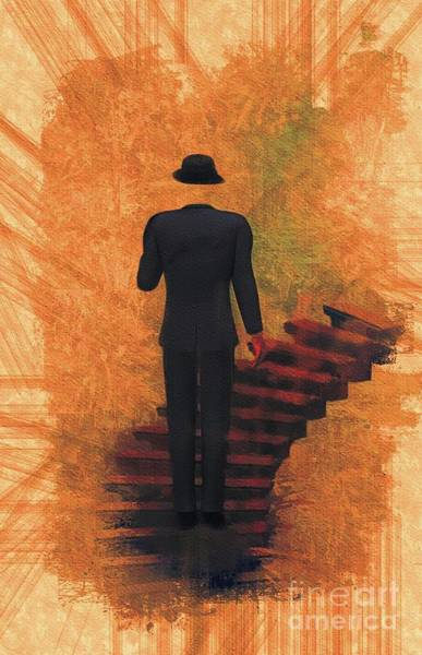 Wall Art - Painting - Surreal Stairway by Mary Bassett