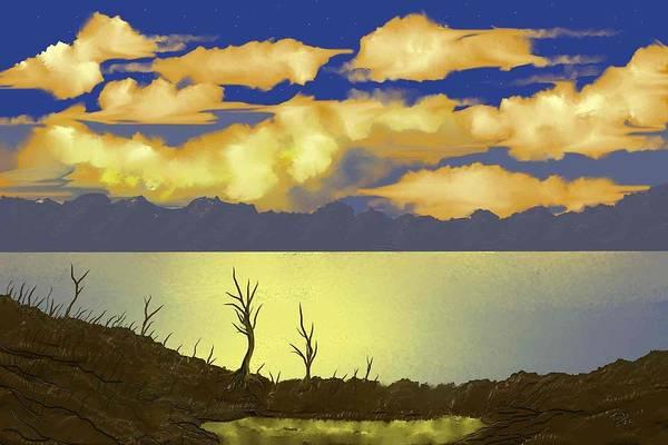Digital Art - Surreal Sunset by Tony Rodriguez
