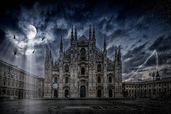 Compose Wall Art - Photograph - Surreality Art Milan Cathedral No 2 by Melanie Viola