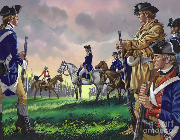 Surrendering Painting - Surrender By General Cornwallis To The American Commander At Yorktown, Va 1781 by Ron Embleton