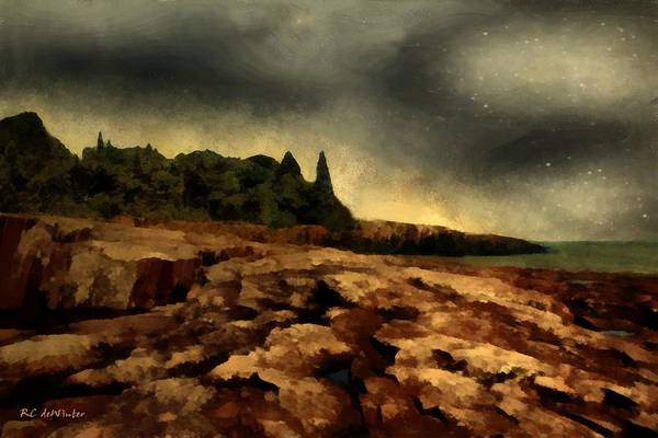 Painting - Surrender Of The Sun by RC DeWinter