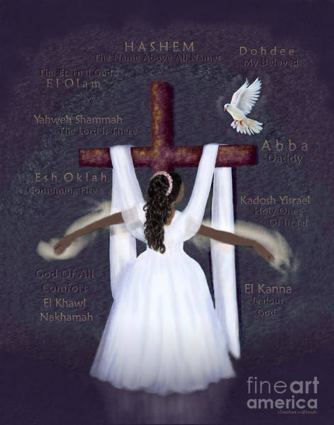 Wall Art - Digital Art - Surrender To Jesus by Constance Woods