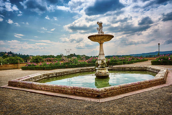 Photograph - The Monkeys Fountain At The Gardens Of The Knight In Florence, Italy by Fine Art Photography Prints By Eduardo Accorinti