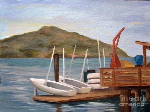 Sausalito Painting - Susalito Dock by Santiago Perez