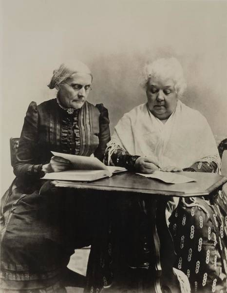 Equal Rights Photograph - Susan B. Anthony And Elizabeth Cady by Everett
