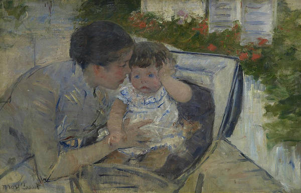 Painting - Susan Comforting The Baby by Mary Cassatt