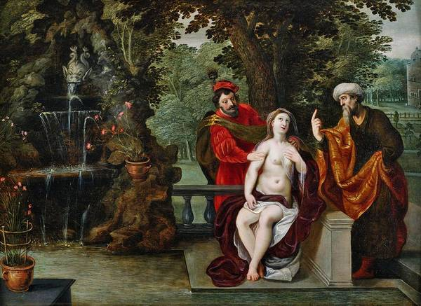 The Elder Painting - Susanna And The Elders by Jan Brueghel the Younger