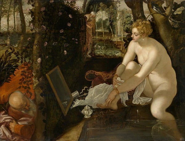 Painting - Susanna And The Elders  by Tintoretto