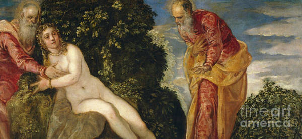 Wall Art - Painting - Susannah And The Elders by Jacopo Robusti Tintoretto