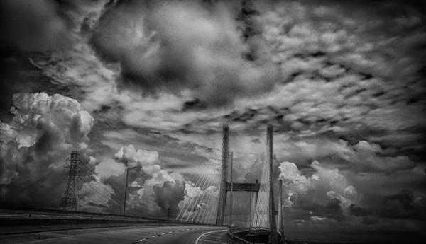 Photograph - Suspension Over Mobile Bw by Judy Hall-Folde