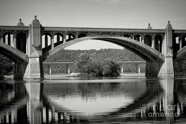 Veterans Photograph - Susquehanna River Bridges  by Olivier Le Queinec