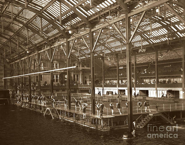 Photograph - Sutro Baths Interior, San Francisco Circa 1898 by California Views Archives Mr Pat Hathaway Archives