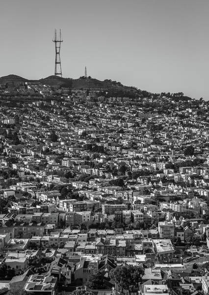 Photograph - Sutro Tower San Francisco Black And White by Donnie Whitaker
