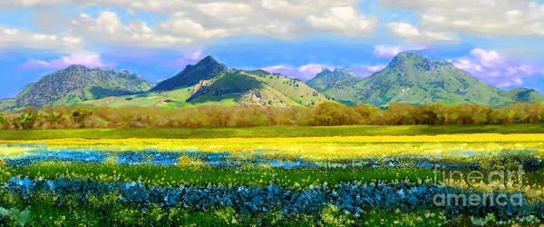 Sutter Buttes In Spring Art Print