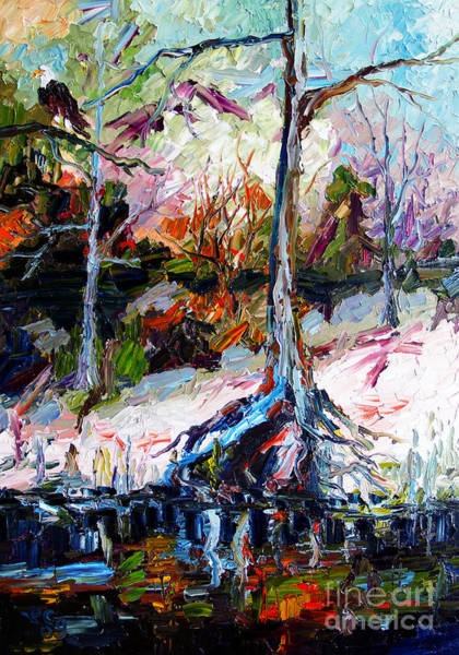 Painting - Suwanee River Black Waters Modern Art by Ginette Callaway