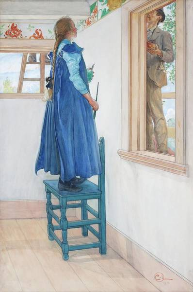 Wall Art - Painting - Suzanne And Another by Carl Larsson