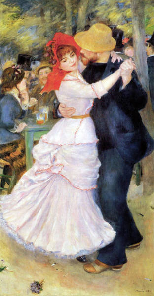 Painting - Suzanne Valadon - Dance At Bougival by Pierre-Auguste Renoir