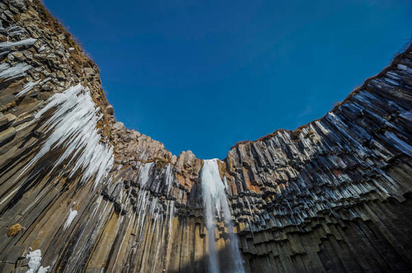 Basalt Photograph - Svartifoss Waterfall, Iceland Black by Panoramic Images