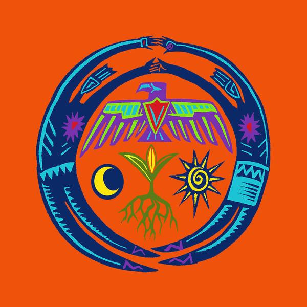 Tribal Dance Digital Art - Sw Shaman Eagle Rain Dance by Vagabond Folk Art - Virginia Vivier