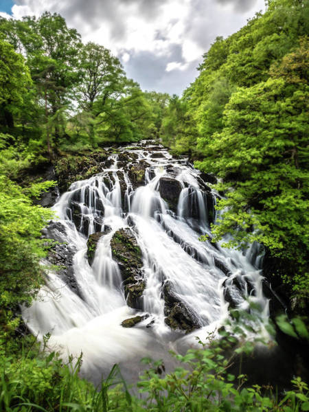 Photograph - Swallow Falls by Nick Bywater