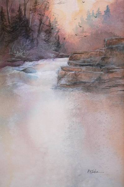 Garrett County Wall Art - Painting - Swallow Falls by Robert Yonke