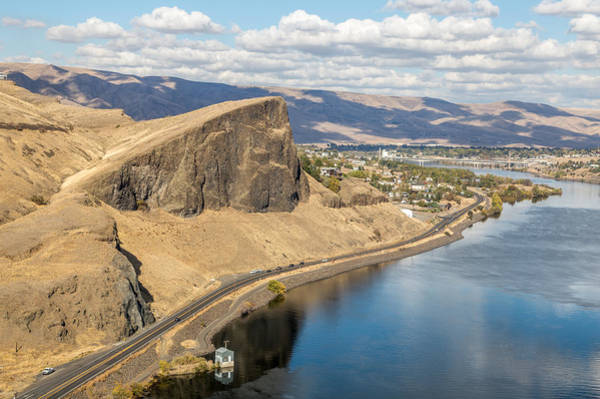 Lewiston Photograph - Swallows Nest Rock From Helicopter by Brad Stinson