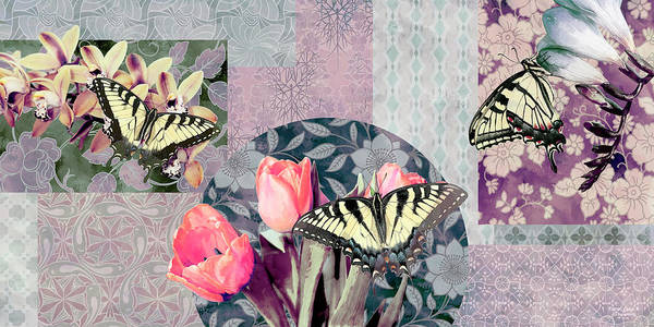 Wall Art - Painting - Swallowtail Butterfly 1 by JQ Licensing