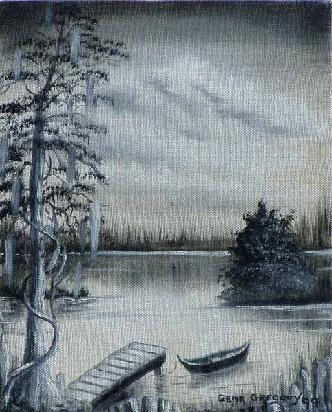 Painting - Swamp Boat by Gene Gregory
