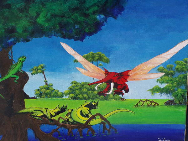 Roger Dean Wall Art - Painting - Swamp by John Lewis