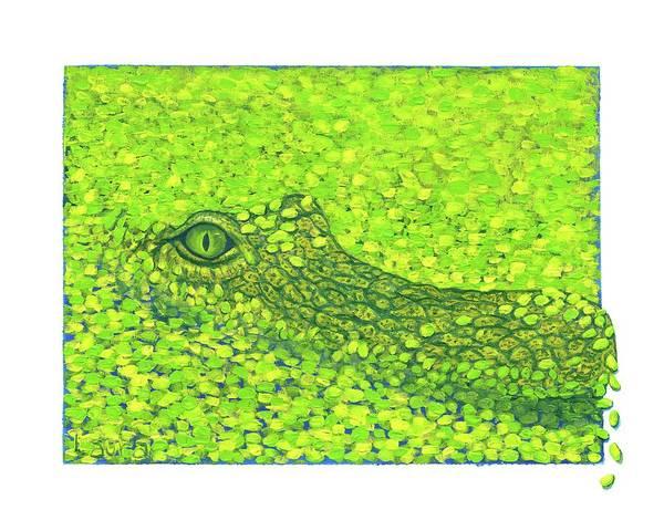 Wall Art - Painting - Swamp by Laura Zoellner