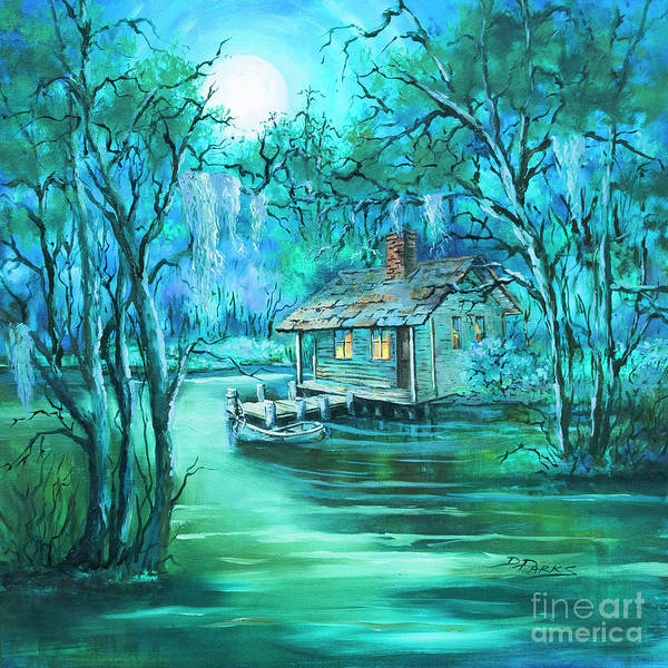 Wall Art - Painting - Swamp Moon by Dianne Parks