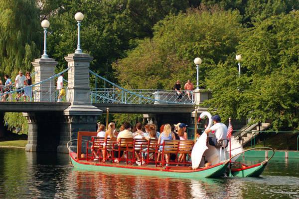 Swan Boats Photograph - Swan Boats by James Kirkikis
