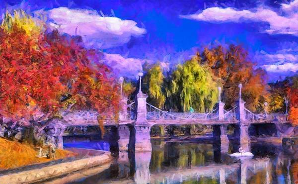Digital Art - Boston Swan Bridge by Caito Junqueira