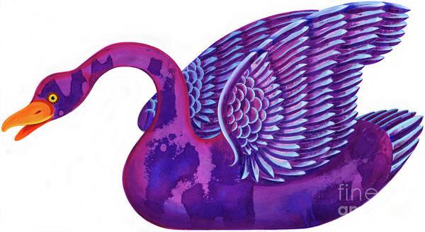 Cygnet Wall Art - Painting - Swan by Jane Tattersfield