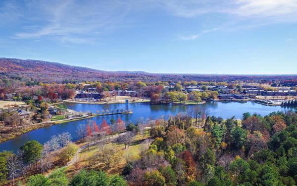 Photograph - Swan Lake At Furman University by James Richardson