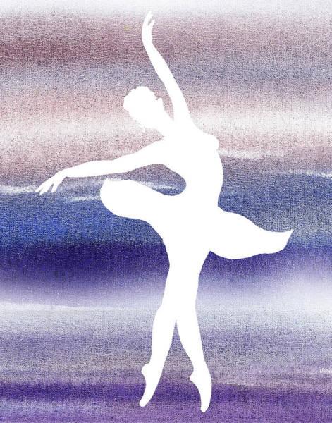 Girly Painting - Swan Lake Ballerina Silhouette by Irina Sztukowski