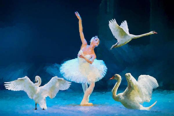 Painting - Swan Lake Ballet - Painting by Ericamaxine Price