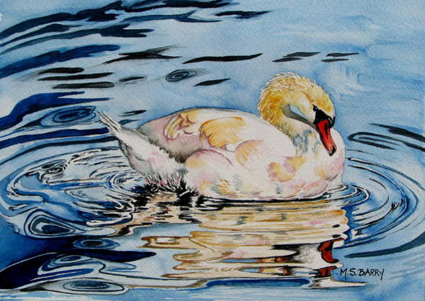 Wall Art - Painting - Swan Lake by Maria Barry
