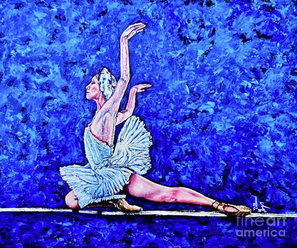 Wall Art - Painting - swan lake M.P. by Viktor Lazarev