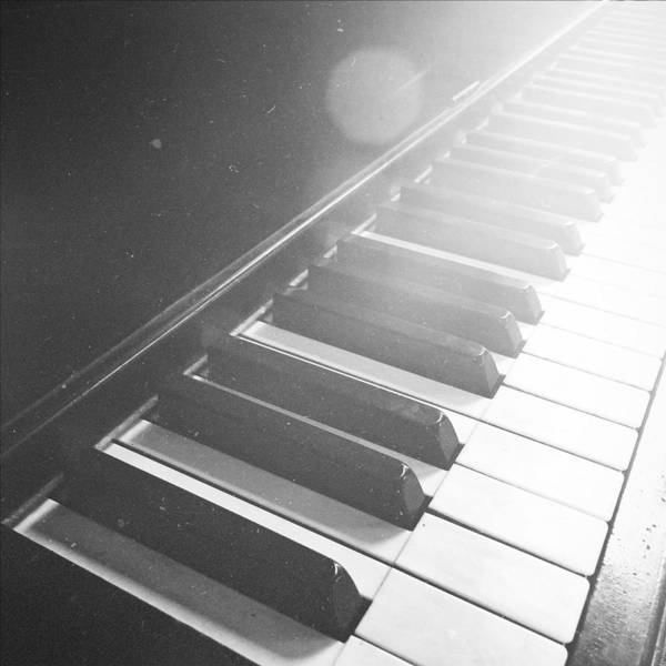 Player Piano Photograph - Swan Song Music Piano Keys Black And White by Andy Gimino