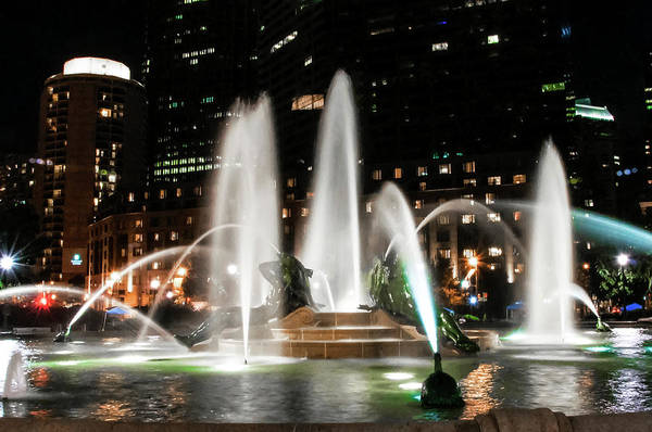 Photograph - Swann Fountain In The Night - Philadelphia by Bill Cannon