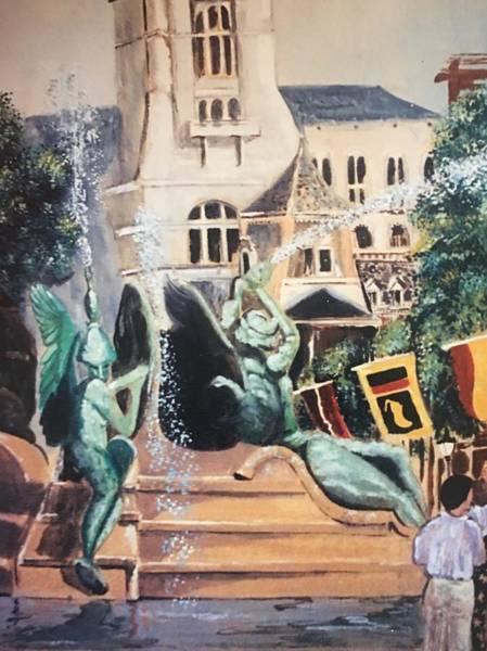 Philae Painting - Swann Fountain Phila by Barbara Szlanic